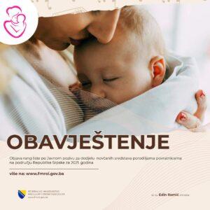 Odluka preliminarna – porodilje 2021