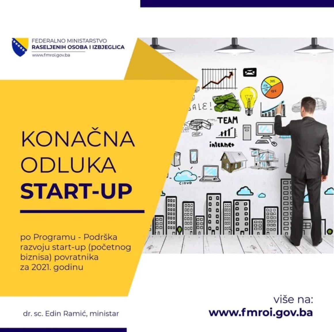 O B A V J E Š T E NJ E  start-up