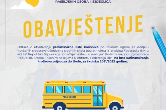Preliminarna lista- Prevoz učenika 2021